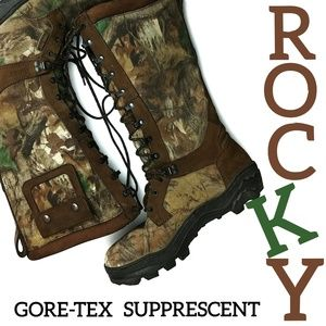 ROCKY Goretex Camouflage Hunting Boots Size 12 W